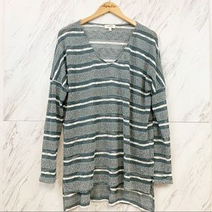 Umgee  |  Loose Weave Striped Sweater, L